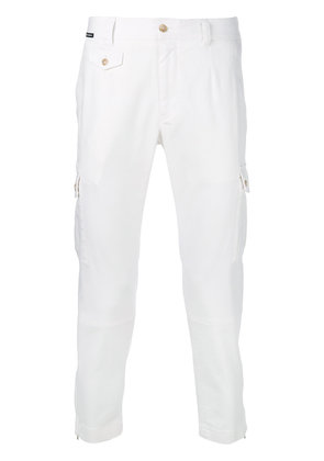 Dolce & Gabbana cropped cargo trousers - White