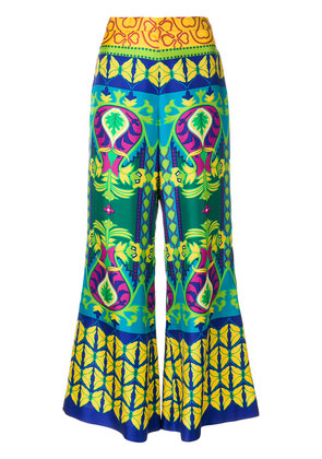 Gucci Psychedelic flower cropped trousers - Multicolour