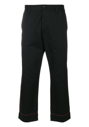 Gucci straight leg cropped trousers - Black