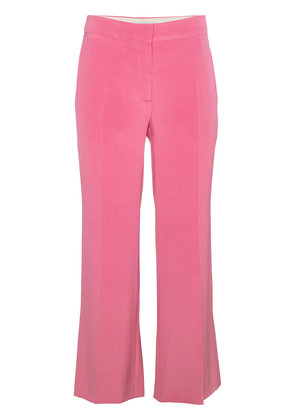 Valentino silk cropped trousers - Pink & Purple