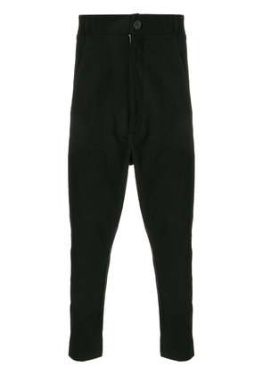 10Sei0otto dropped crotch trousers - Black