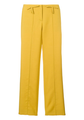 Valentino bow detail flared trousers - Yellow & Orange