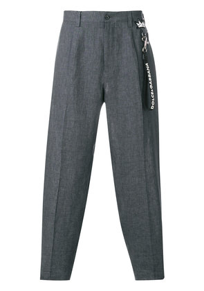 Dolce & Gabbana tapered cropped trousers - Grey