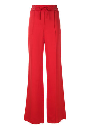Valentino high waist wide leg trousers - Red