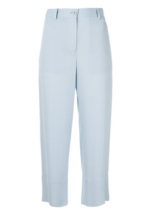 Theory cropped straight-leg trousers - Blue