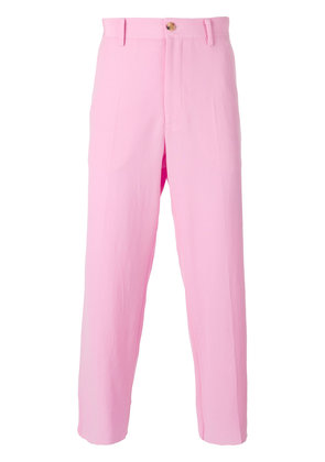 Gucci cropped trousers - Pink & Purple