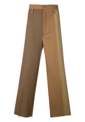 Marni loose fit striped chinos - Brown