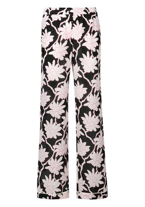 Valentino Popflowers palazzo pants - Black