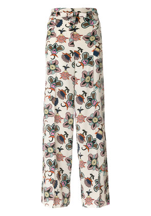 Valentino Popflowers high waist palazzo pants - Multicolour