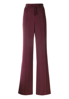 Valentino Techno stitch palazzo pants - Pink & Purple