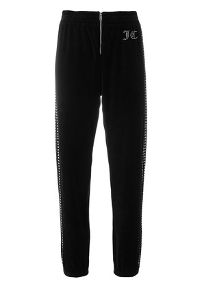 Juicy Couture customisable velour track pants - Black