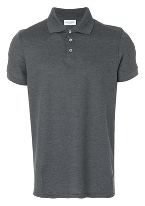 Saint Laurent fitted polo top - Grey