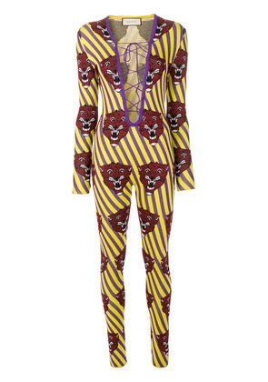Gucci tiger face jumpsuit - Multicolour