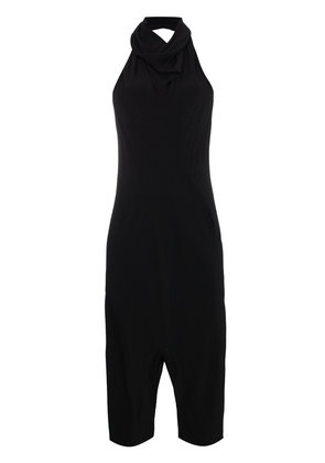 Rick Owens halter neck cropped jumpsuit - Black