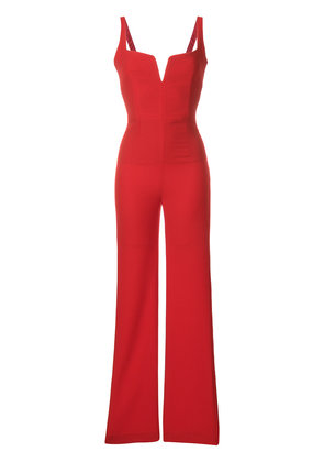 Galvan signature corset jumpsuit - Red