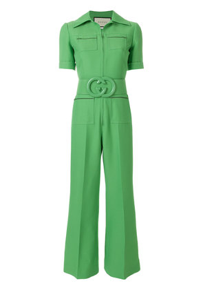 Gucci belted cady jumpsuit - Green