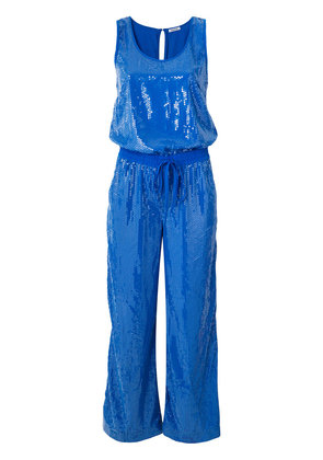 P.A.R.O.S.H. draped drawstring jumpsuit - Blue
