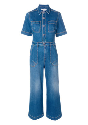 Stella McCartney cropped denim jumpsuit - Blue