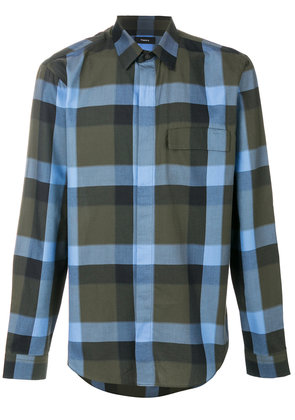 Theory melange plaid clean shirt - Blue