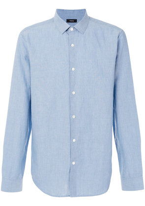 Theory classic plain shirt - Blue
