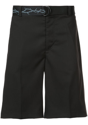 D.Gnak Print Thorn Tape shorts - Black