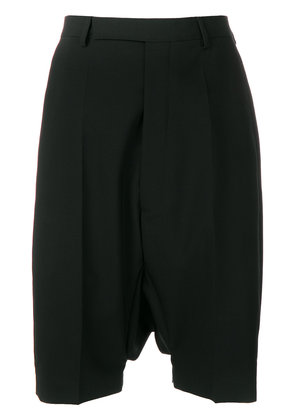 Rick Owens tailored drop-crotch shorts - Black