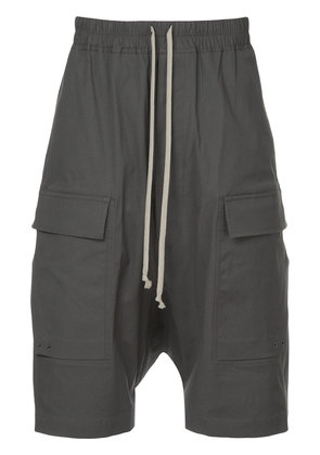 Rick Owens drop crotch cargo shorts - Grey