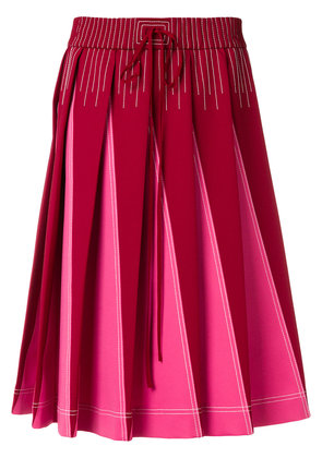 Valentino Technical pleated A-line skirt - Pink & Purple