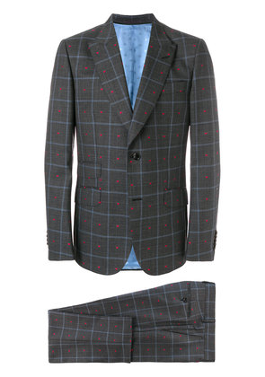 Gucci grid check suit - Grey