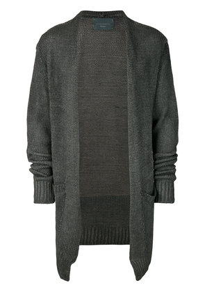 10Sei0otto draped fitted cardigan - Grey