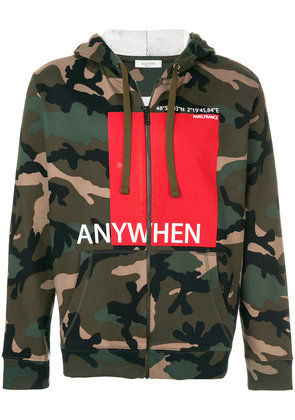 Valentino Anywhen printed camouflage hoodie - Green