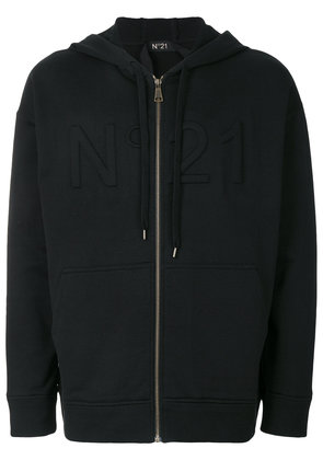 No21 three-dimensional logo hoodie - Black