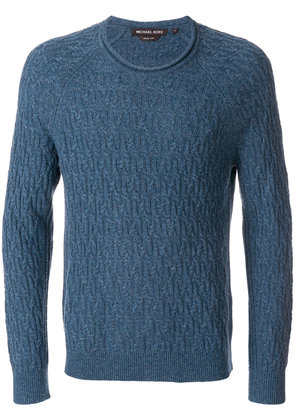 Michael Michael Kors textured knit sweater - Blue
