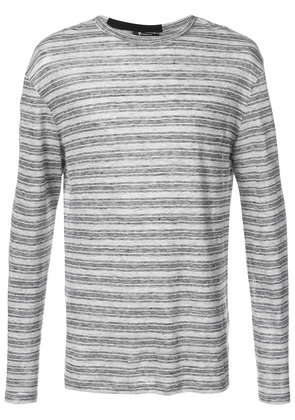 T By Alexander Wang striped pullover - Grey
