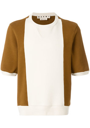 Marni colour block knitted top - Brown
