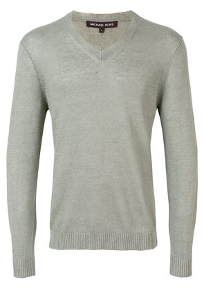 Michael Michael Kors v-neck longsleeve sweater - Green