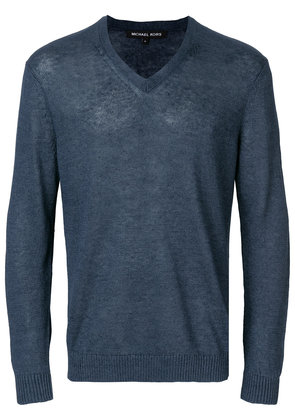 Michael Michael Kors v-neck longsleeved sweater - Blue