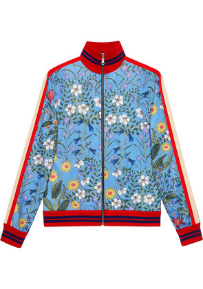 Gucci New Flora technical jersey jacket - Blue