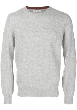 Brunello Cucinelli long sleeved sweatshirt - Grey