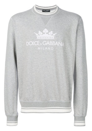 Dolce & Gabbana crown logo sweatshirt - Grey