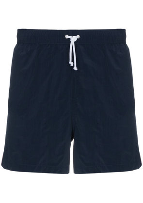 Thom Browne Swim shorts with stripe detail - Blue