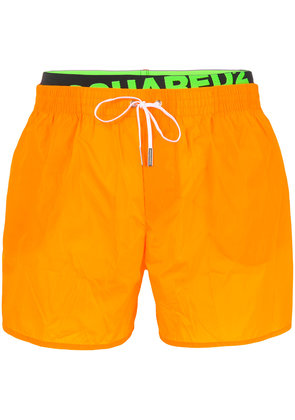 Dsquared2 logo band swim shorts - Yellow & Orange