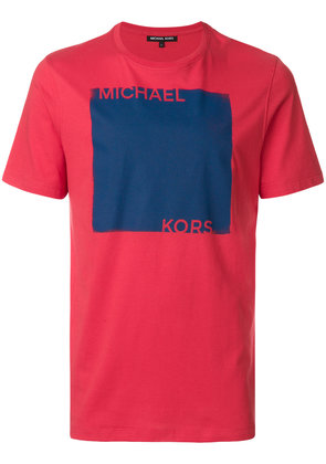 Michael Michael Kors colour-block logo print T-shirt - Red
