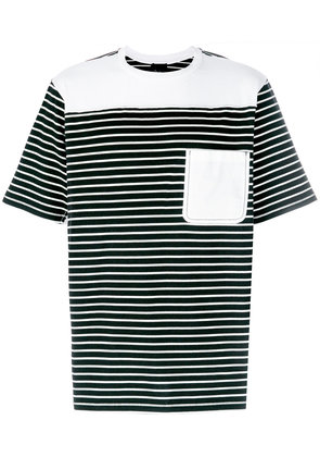 3.1 Phillip Lim Re-constructed striped T-Shirt - Black