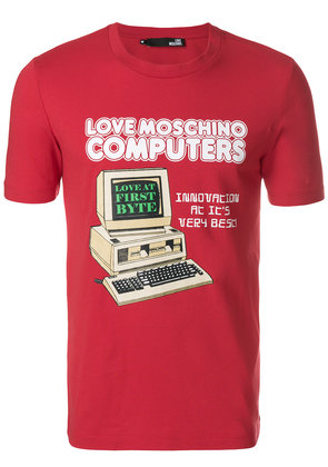 Love Moschino Computers T-shirt - Red