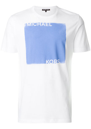 Michael Michael Kors colour-block logo print T-shirt - White