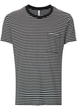 Attachment striped fitted T-shirt - Black