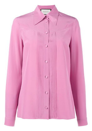 Gucci pleated silk blouse - Pink & Purple