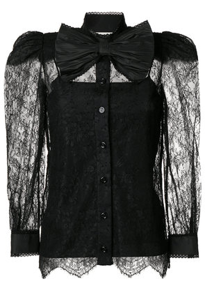 Gucci Chantilly lace blouse - Black
