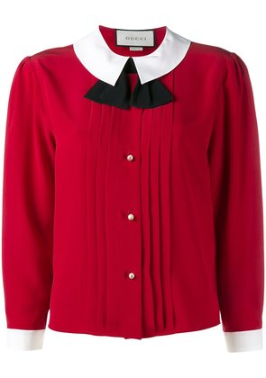 Gucci peter pan collar blouse - Red